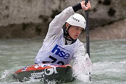 Ursa Kragelj of Kajak klub Soske elektrarne competes in the Women's Kayak K-1 at kayak & canoe slalom race on May 9, 2010 in Tacen, Ljubljana, Slovenia. (Photo by Vid Ponikvar / Sportida)