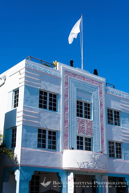 US, Florida, Miami Beach. Art Deco, The Marlin Hotel, Collins Ave.