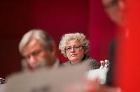 DEU, Deutschland, Germany, Berlin, 27.10.2012:<br />Landesparteitag der Berliner SPD im Berliner Congress Center (BCC) am Alexanderplatz. Kirstin Fussan, Geschäftsführerin der Berliner SPD.