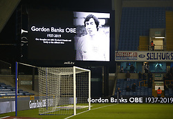 February 12, 2019 - London, England, United Kingdom - Memory of Gordon Banks.during Sky Bet Championship match between Millwall and Sheffield Wednesday at The Den Ground, London on 12 Feb 2019. (Credit Image: © Action Foto Sport/NurPhoto via ZUMA Press)