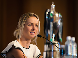 October 20, 2018 - Kallang, SINGAPORE - Elina Svitolina of the Ukraine talks to the media during the All Access Hour of the 2018 WTA Finals tennis tournament (Credit Image: © AFP7 via ZUMA Wire)