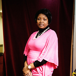 "Chouna Mangondo's portrait during Brussels' Festival des Cinemas Africains (African Film Festival). She directed the documentary movie ""Le Rallye d'Helene"". Commune d'Ixelles, Brussels. April 4, 2009. Photo : Antoine Doyen"