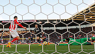 Danny Ings of Burnley scores the first goal of the game - Football - Barclays Premier League - Stoke City vs Burnley - Britannia Stadium Stoke - Season 2014/2015 - 22nd November 2015 - Photo Malcolm Couzens /Sportimage