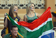 South African fans during the IRB Rugby Sevens tournament held at Adelaide Oval,Adelaide, South Australia,Saturday, April 5, 2008.<br /> Photo;Michael Oakes/SMP<br /> Conditions of Use: This image is intended for editorial use only (EG: news or commentary, print or electronic).  Any commercial or promotional use requires additional clearance.  Please contact for details.