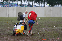 Festival arrivals..T in the Park festival took place on the 6th, 7th and 8 July 2007, at Balado, near Kinross in Perth and Kinross, Scotland. This was the first time the festival had been held over three days..Pic ©2011 Michael Schofield. All Rights Reserved..