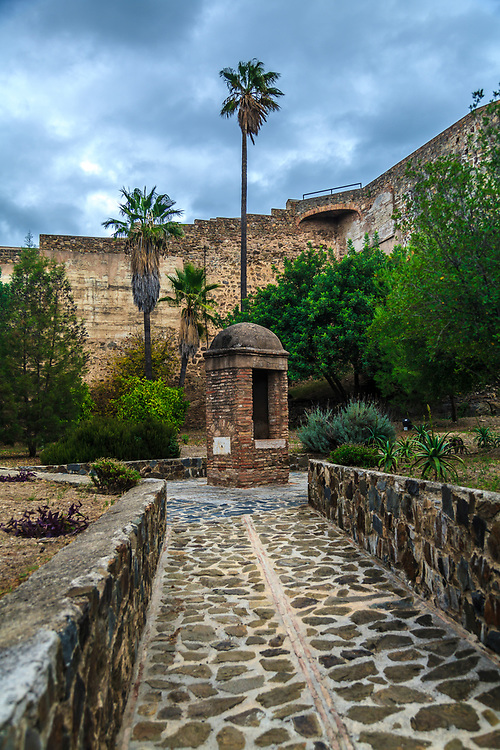 A well in the old Muslim castle, known as the Gibralfaro in Malaga, Spain.