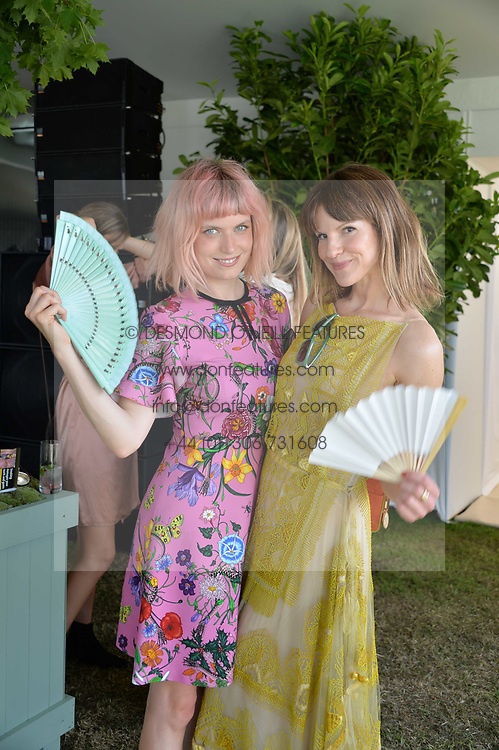 Left to right, DJ Henry and Kate Sumner at Cartier Queen's Cup Polo, Guard's Polo Club, Berkshire, England. 18 June 2017.<br /> Photo by Dominic O'Neill/SilverHub 0203 174 1069 sales@silverhubmedia.com