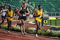 University of Oregon<br /> Oregon Relays track and field meet<br /> April 23-24, 2021 Eugene, Oregon, USA<br /> mens 5000, Iowa State, Oregon