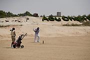 Abu Dhabi, United Arab Emirates (UAE). .March 20th 2009..Al Ghazal Golf Club..36th Abu Dhabi Men's Open Championship..Ken Ritzal (right)