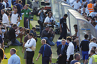 Photo: Alan Crowhurst, Digitalsport<br />  Wycombe Wanderers v Chelsea, Friendly, 13/07/2005. <br /> Plenty of media attention on Jose Mourinho in the dugout.<br /> Norway only