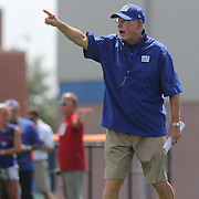 Head Coach Tom Coughlin during the 2013 New York Giants Training Camp at the Quest Diagnostics Training Centre, East Rutherford, New Jersey, USA. 29th July 2013. Photo Tim Clayton.