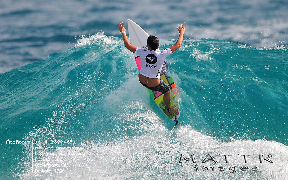 Gold Coast, Australia - March 6: Melanie Bartels 13.00pts advances through to the final of the Roxy Pro Gold Coast 2010 defeating Chelsea Hedges 10.30pts in the semi at Snapper Rocks on the Gold Coast, March 6, 2010 Photo by Matt Roberts/MATTRimages.com.au | Image ID: MTR_0605.jpg
