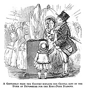 A gentleman from the country mistakes the crystal sent by the Duke of Devonshire for the Koh-i-Noor diamond.