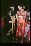 Minnie Scott(right), Fancy dress party at Christies, 1984  approx© Copyright Photograph by Dafydd Jones 66 Stockwell Park Rd. London SW9 0DA Tel 020 7733 0108 www.dafjones.com