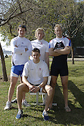 Seville. SPAIN, 16.02.2007. GBR M4- pose at the  at the Seville Training Centre, as they prepare for the weekends - FISA Team Cup standing left to right, Steve WILLIAMS, Andy Twiggs Hodge, Alex PARTRIDGE and sitting Peter REED, [Photo Peter Spurrier/Intersprt Images]    [Mandatory Credit, Peter Spurier/ Intersport Images]. , Rowing Course: Rio Guadalquiver Rowing Course, Seville, SPAIN,