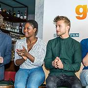 NLD/Amsterdam//20170419 - Castpresentatie film Gek op Oranje, Frans van Gestel, Belinda, van der Stoep, Jan Versteegh, Willem Voogd