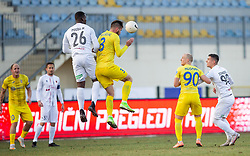Mathias Pogba of Sezana, brother of Paul Pogba vs Damjan Vuklisevic of Domzale during football match between NK Domzale and NK CB24 Tabor Sezana in 22nd Round of Prva liga Telekom Slovenije 2020/21, on February 21, 2021 in Sports park Domzale, Slovenia. Photo by Vid Ponikvar / Sportida