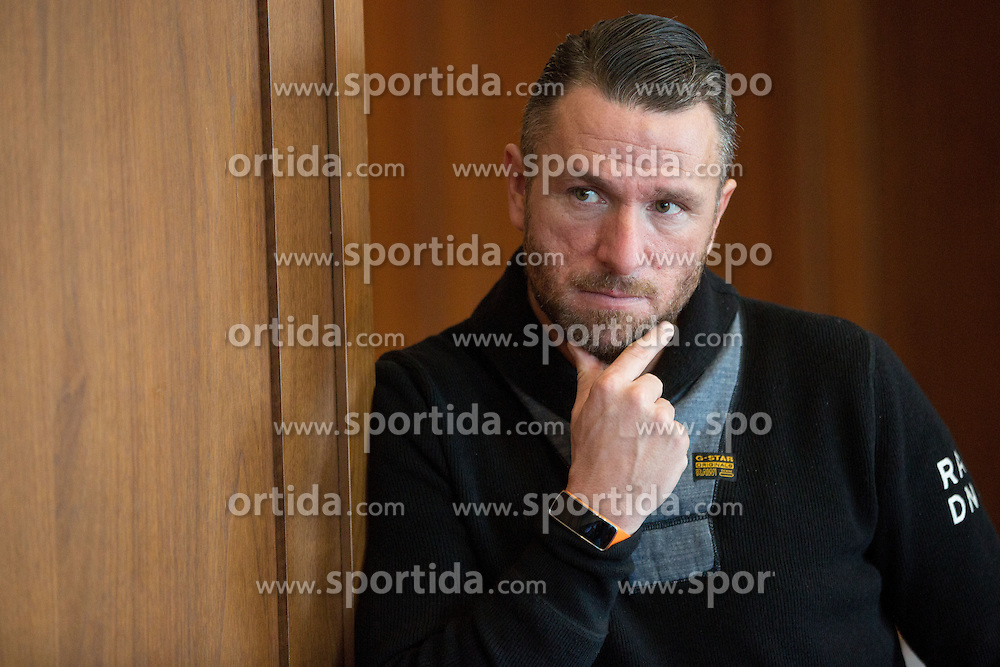 Sebastijan Cimirotic during press conference when presented Olimpija's new coach, on January 11, 2016 in Austria Trend Hotel, Ljubljana, Slovenia. Photo by Vid Ponikvar / Sportida