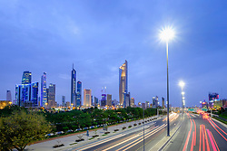 Skyline of CBD of Kuwait City in Kuwait