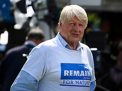 © Licensed to London News Pictures. 24/06/2016. London, UK. STANLEY JOHNSON, father of former mayor of London, Boris Johnson, speaking to media in Westminster, London on the day that the UK voted to leave the EU in a referendum. Photo credit: Ben Cawthra/LNP
