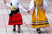 Children attending traditional fiesta at Villaviciosa in Asturias, Northern Spain