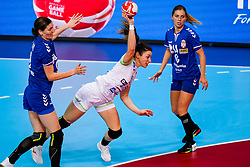 06-12-2019 JAP: Serbia - Slovenia, Kumamoto<br /> last match groep A at 24th IHF Women's Handball World Championship. / Nina Zulic #18 of Slovenia, Zeljka Nikolic #14 of Serbia