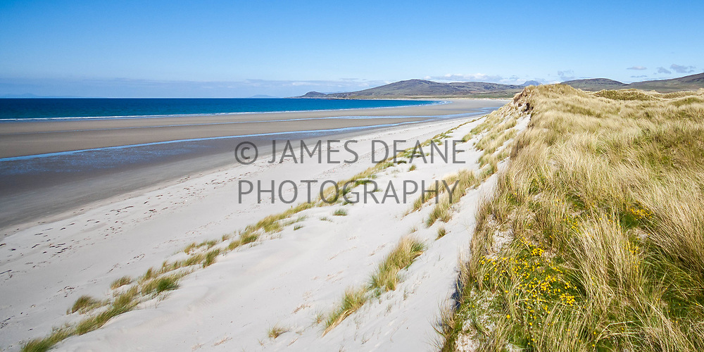 The vast empty beach at Killinallan