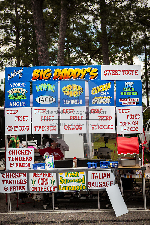 Carnival food for sale at the World Grits Festival April 14, 2012 in St. George, SC. The festival celebrates the southern love for the sticky corn porridge