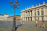 Italie, Piemont, Turin, Piazza Castello, Palazzo Madama // Italy, Piedmont, Turin, Piazza Castello, Palazzo Madama