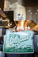 Pip's Original, a  fried to order doughnut shop in NE Portland, Oregon.