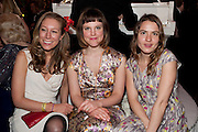 NINA RAINE; LYDIA FOX; PHOEBE AYOADE , Post Olivier Awards Gala party. Waldorf Astoria. London. 13 March 2011. -DO NOT ARCHIVE-© Copyright Photograph by Dafydd Jones. 248 Clapham Rd. London SW9 0PZ. Tel 0207 820 0771. www.dafjones.com.
