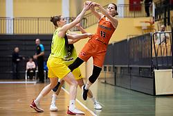 Miroslava Mistinova of MBK Ruzomberok in action during basketball match between ZKK Cinkarna Celje (SLO) and MBK Ruzomberok (SVK) in Round #6 of Women EuroCup 2018/19, on December 13, 2018 in Gimnazija Celje Center, Celje, Slovenia. Photo by Urban Urbanc / Sportida