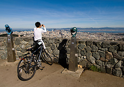 San Francisco: View of Downtown from Twin Peaks. Photo 11-casanf77591 Photo copyright Lee Foster.