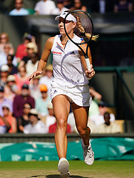 July 14, 2018 - London, England, U.S. - LONDON, ENG - JULY 14: Angelique (GER) in action during the women's singles title on July 14, 2018 at the Wimbledon Championships, played at the AELTC in London, England. (Photo by Cynthia Lum/Icon Sportswire) (Credit Image: © Cynthia Lum/Icon SMI via ZUMA Press)