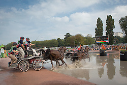 Chester Weber, (USA), Boris W, Boy W, Para, Splash, Uniek - Driving Marathon - Alltech FEI World Equestrian Games™ 2014 - Normandy, France.<br /> © Hippo Foto Team - Dirk Caremans<br /> 06/09/14