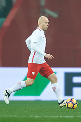 Wroclaw, Poland - 2016 November 14: Michal Pazdan of Poland controls the ball during Poland v Slovenia - International Friendly Soccer Match at Municipal Stadium on November 14, 2016 in Wroclaw, Poland.<br /> <br /> Adam Nurkiewicz declares that he has no rights to the image of people at the photographs of his authorship.<br /> <br /> Picture also available in RAW (NEF) or TIFF format on special request.<br /> <br /> Any editorial, commercial or promotional use requires written permission from the author of image.<br /> <br /> Mandatory credit:<br /> Photo by © Adam Nurkiewicz / Mediasport