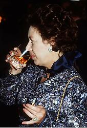 Princess Margaret drinking and smoking.