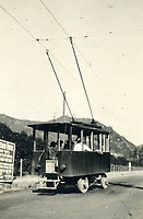 1913 Trackless trolley going to Lookout Mountain in Laurel Canyon