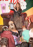 Myleene Klass reading the bedtime stories   at the Big Feastival 2021 on Alex James' Cotswolds farm, Kingham oxfordshire