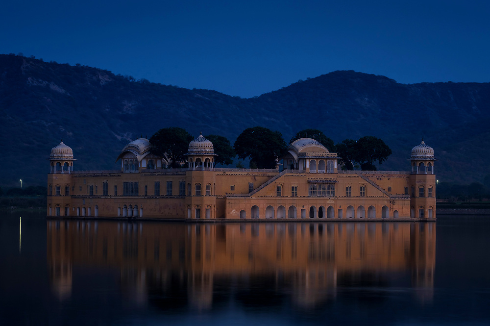 JAIPUR, INDIA - CIRCA NOVEMBER 2016: Jal Mahal also known as the Water Palace is located in the Man Sagar Lake of Jaipur and it is a very popular torist attraction.