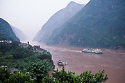 Travelling through Wu Gorge, Yangtze river, China