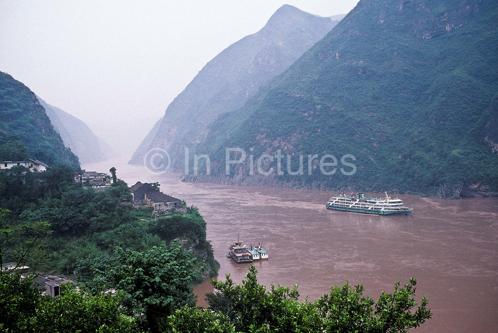 Travelling through Wu Gorge, Yangtze river, China