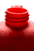 top of a red plastic gasoline can