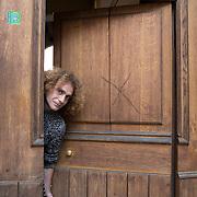 Piccolo Teatro Grassi, Milano, Italia, 30 Marzo 2021. Raffaele Rizzo, 40 anni, saltimbanco.