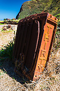 Historic  equipment at Scorpion Ranch, Santa Cruz Island, Channel Islands National Park, California USA