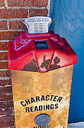Old fashioned scale and fortune teller, Jacksonville, Oregon USA