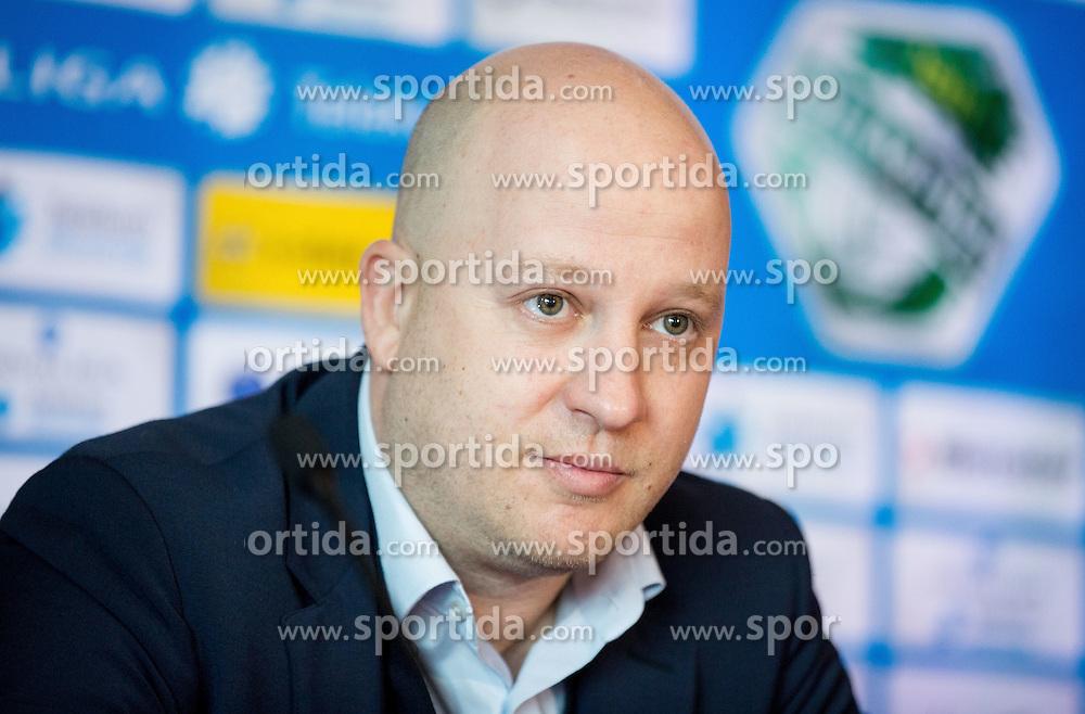 Marko Nikolic, new head coach of NK Olimpija Ljubljana during press conference when presented Olimpija's new coach, on January 11, 2016 in Austria Trend Hotel, Ljubljana, Slovenia. Photo by Vid Ponikvar / Sportida