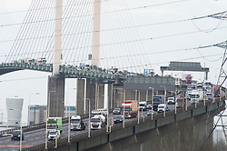 ©Licensed to London News Pictures 19/12/2019. <br /> Dartford ,UK. Queen Elizabeth II Bridge traffic, Dartford crossing, Dartford, Kent. Motorists are facing heavy traffic today as people try to make an early Christmas getaway on the roads. Photo credit: Grant Falvey/LNP