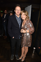 28 January 2020 - Simon Mayo and Penny Smith at the Costa Book Awards 2019 held at Quaglino's, 16 Bury Street, London.<br /> <br /> Photo by Dominic O'Neill/Desmond O'Neill Features Ltd.  +44(0)1306 731608  www.donfeatures.com