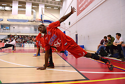 Tyrone Lee of Bristol Flyers warms up before the game - Mandatory byline: Dougie Allward/JMP - 07966 386802 - 23/10/2015 - FOOTBALL - SGS Wise Campus - Bristol, England - Bristol Flyers v Manchester Giants - British Basketball League